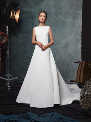 sareh-nouri-fall-2019-bridal-collection-wedding-dress-dakota-bateau-neckline-a-line-crepe