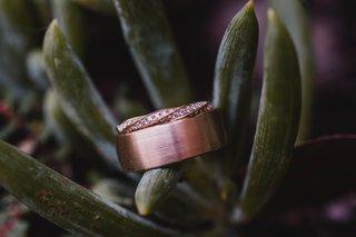 brushed-finish-mens-rose-gold-wedding-ring-twisted-channel-set-rose-gold-womens-wedding-ring