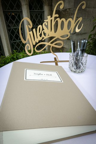 gold-cutout-guest-book-sign-golden-decor-champagne-taupe-guestbook