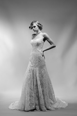 black-and-white-photo-of-juliette-wedding-dress-by-ivy-aster-braided-spaghetti-straps-lace-straps