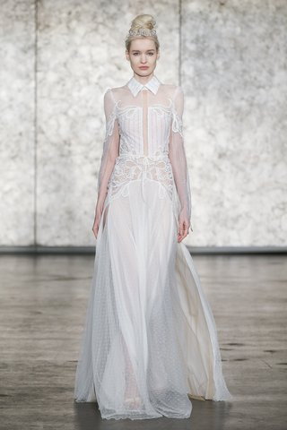 inbal-dror-fall-2018-long-sleeve-beaded-gown-with-collar-and-open-back-and-point-desprit-skirt