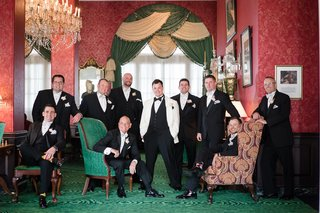 groom-black-white-ensemble-groomsmen-inverse-southern-wedding-greenbrier-west-virginia-formal-unique