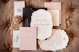 east-six-wedding-invitations-with-die-cut-design-in-white-pink-gold-and-black