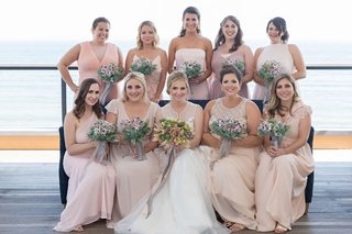 bridesmaids-in-mismatched-bridesmaid-dresses-champagne-pink-blush-dresses-of-choosing-barnacle