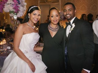 bride-in-strapless-vera-wang-wedding-dress-and-sparkling-headband-and-groom-with-essence-atkins