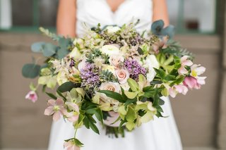 full-wide-bridal-bouquet-with-different-shades-of-greenery-with-blush-flowers-and-lilac-accents