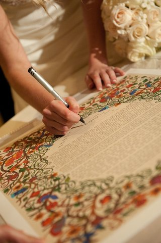 bride-signing-colorful-jewish-wedding-ketubah