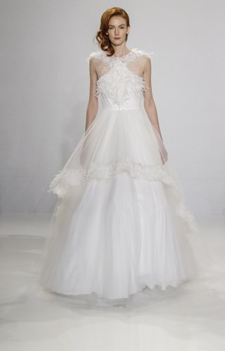 christian-siriano-for-kleinfeld-bridal-ball-gown-with-feather-applique-details-and-overlay-on-skirt