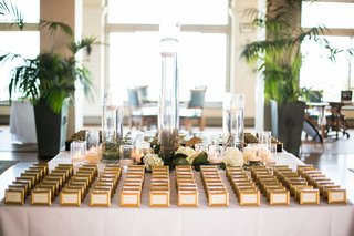 escort-cards-gold-frames-miniature-small-flowers-indoors-southern-california
