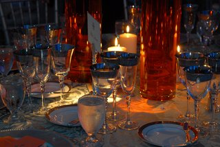 wedding-reception-table-with-silver-rimmed-stemware