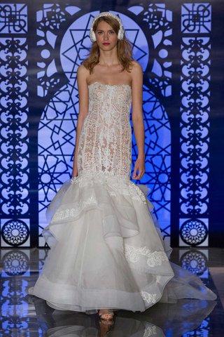 reem-acra-bridal-fall-2016-strapless-drop-waist-corset-bodice-with-layered-organza-mermaid-skirt