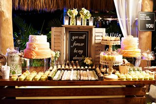 chalkboard-sign-at-outdoor-sweets-table-at-wedding-reception