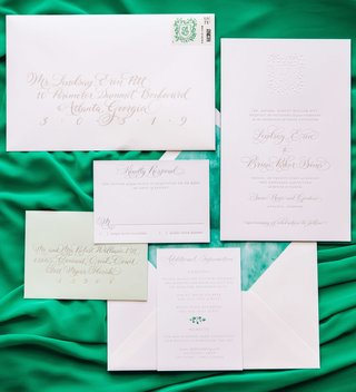 wedding-invitation-suite-green-details-response-envelope-envelope-liner-stamp