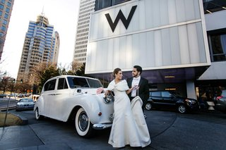 bride-with-fur-bolero-in-front-of-w-hotel-in-atlanta