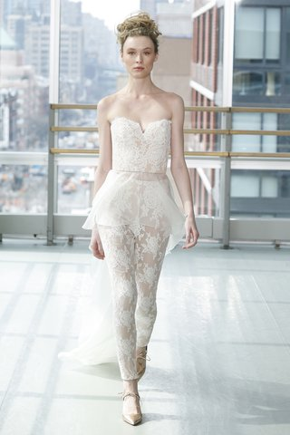 look-3-by-gracy-accad-spring-2019-lace-bustier-catsuit-with-organza-peplum-overlay