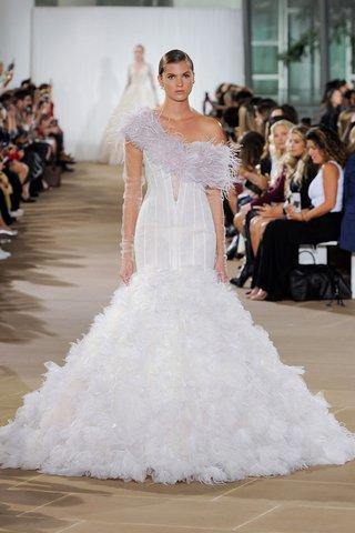ines-di-santo-fall-2019-bridal-collection-wedding-dress-freyja-feathered-trumpet-skirt-corset