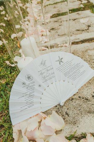 wedding-ceremony-program-printed-on-folding-fan-for-destination-wedding