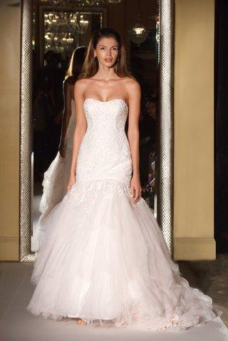oleg-cassini-davids-bridal-wedding-dress-strapless-mermaid-wedding-gown-beading-tulle-hanky-pink