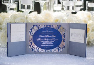 silver-invitation-suite-with-pockets-and-royal-blue-invitation-card-with-silver-script