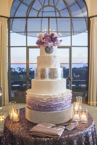 ombre-cake-layers-with-pink-and-purple-flowers