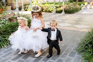 toddler-girls-boy-tulle-tutu-skirts-purses-tux-bow-tie-alfresco-ceremony