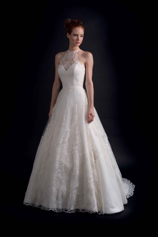 modern-trousseau-fall-2016-halter-neck-ball-gown-with-lace