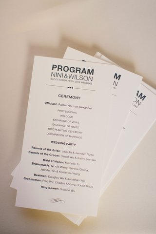 ceremony-program-with-officiant-schedule-wedding-party-in-modern-font