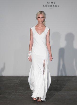 rime-arodaky-2018-bridal-collection-wedding-dress-cap-sleeve-v-neck-bridal-gown-sheer-high-slit