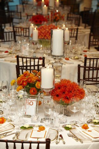 orange-and-white-wedding-reception-table-decorations