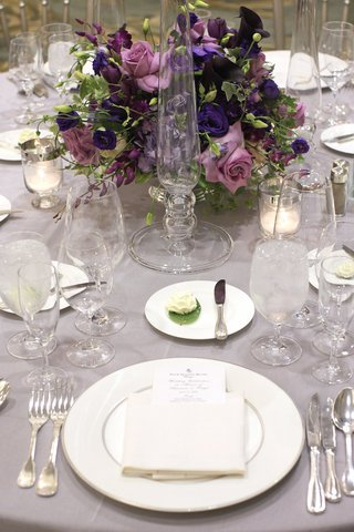 wedding-reception-centerpiece-of-purple-flowers