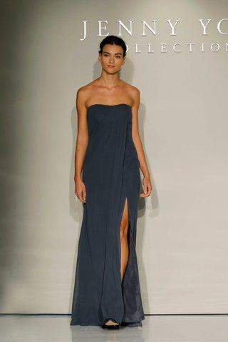 jenny-yoo-bridesmaids-2016-strapless-navy-blue-bridesmaid-dress-with-slit
