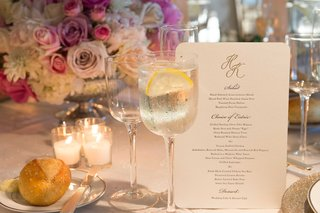 wedding-menu-card-with-rounded-corners-gold-monogram-and-salad-entree-dessert-choices