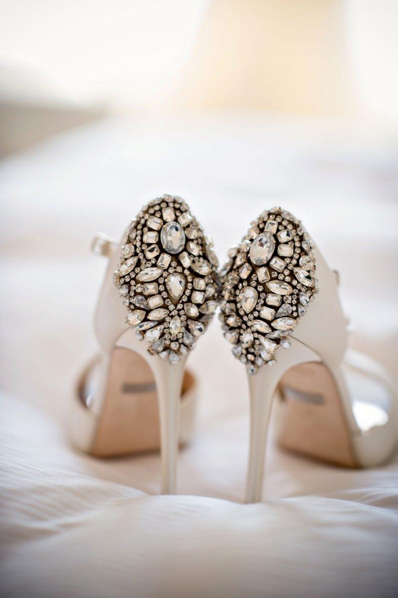 Crystal-Encrusted Bridal Heels