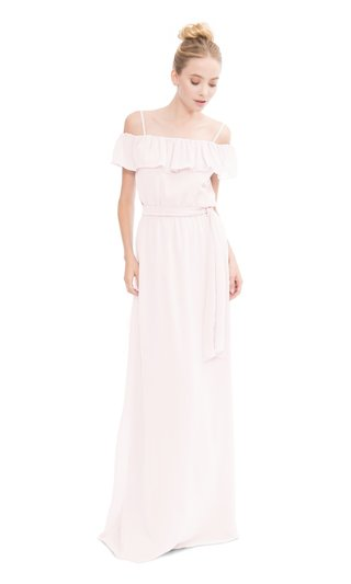 joanna-august-2017-bridesmaid-dresses-nikki-ruffle-off-shoulder-gown-with-spaghetti-straps-and-tie
