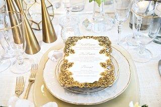 gold-laser-cut-border-for-wedding-reception-dinner-menu