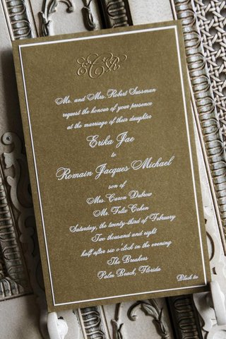 monogramed-golden-wedding-invitation