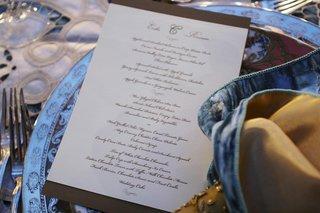script-font-wedding-dinner-menu-card-on-table