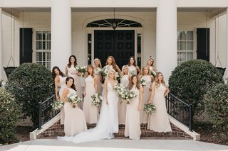 former-miss-america-savvy-shields-in-berta-wedding-dress-bridesmaids-in-high-neck-champagne-gowns