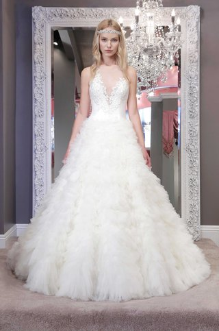winnie-chlomin-2016-ruffle-a-line-ball-gown-wedding-dress-with-illusion-plunging-neckline