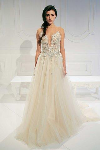 le-secret-royal-bridal-collection-galia-lahav-a-line-wedding-dress-embroidery-bodice-v-neck-illusion