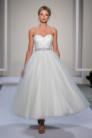 dennis-basso-strapless-tea-length-wedding-dress-with-sweetheart-neckline-and-a-line-skirt