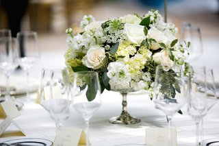 silver-mercury-glass-urn-with-white-rose-white-hydrangea
