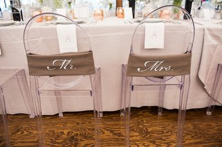 burlap-style-wraps-with-mr-and-mrs-on-chair-backs