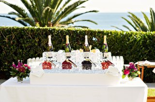 wedding-reception-cocktail-hour-ocean-view-venue-champagne-with-raspberry-strawberry-blackberry