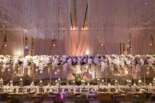 wedding-reception-floating-centerpiece-over-head-table-crystals-on-ceiling-orbs-candles