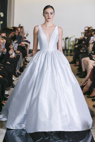 justin-alexander-spring-2018-silk-dupion-ball-gown-plunging-v-neckline-keyhole-back-wedding-designer