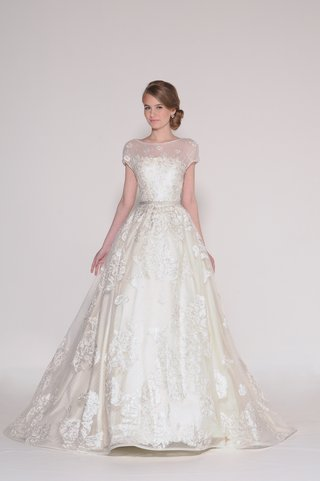 painted-rose-lace-appliqued-over-a-natural-waist-tulle-ball-gown-beaded-pearl-cap-sleeves-and-sca