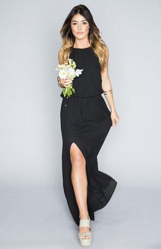black-halter-bridesmaid-dress-with-high-slit
