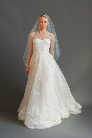 sabrina-dahan-2016-long-sleeve-illusion-wedding-dress-with-flower-applique-skirt-and-beaded-sleeves