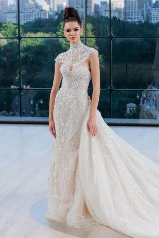 carnegie-ines-di-santo-fall-2018-wedding-dress-strapless-embroidery-with-train-and-bolero